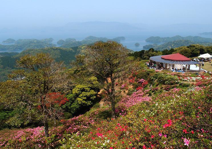 29 新緑と九十九島の展望は最高.JPG