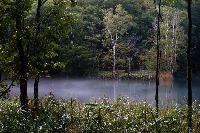 3 湖面から湯気が出ています.JPG